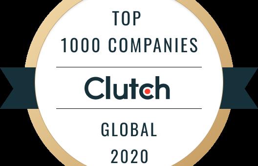 Clutch 2020 Top 100 Companies Global