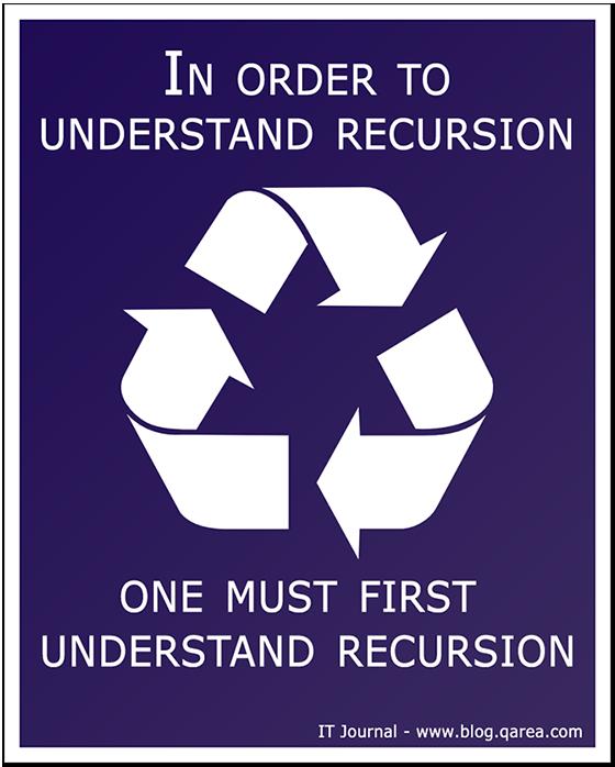 In order to understand recursion, one must first understand recursion. @QArea