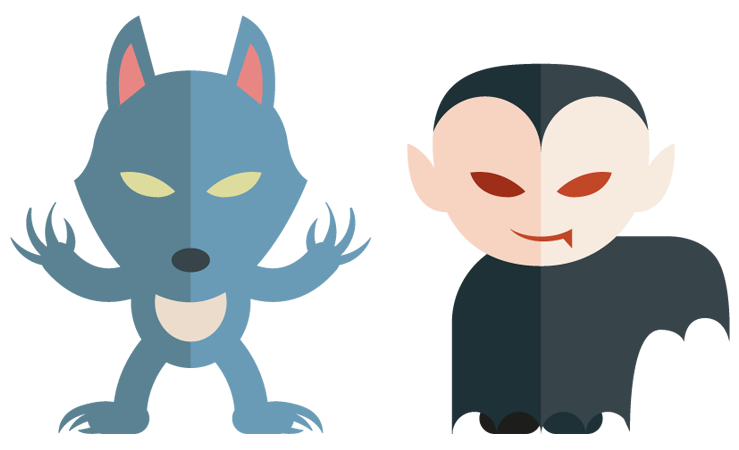 Werwolves and vampires