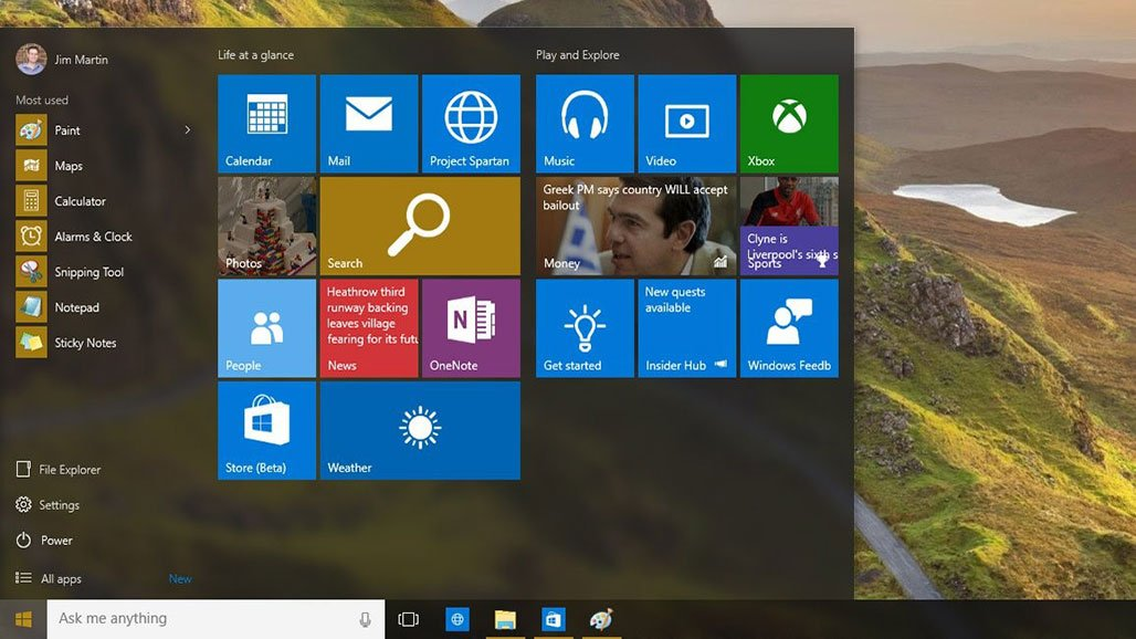 Windows 10 screenshot