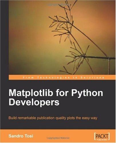 Matplotlib for Python Developers Book Review