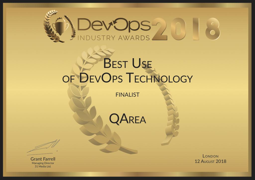 QArea DevOps Industry Awards