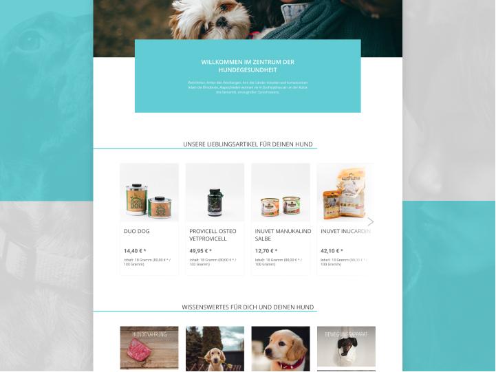 Website Redesign for a Dog Health Center 2