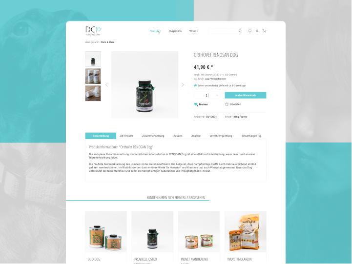 Website Redesign for a Dog Health Center 3