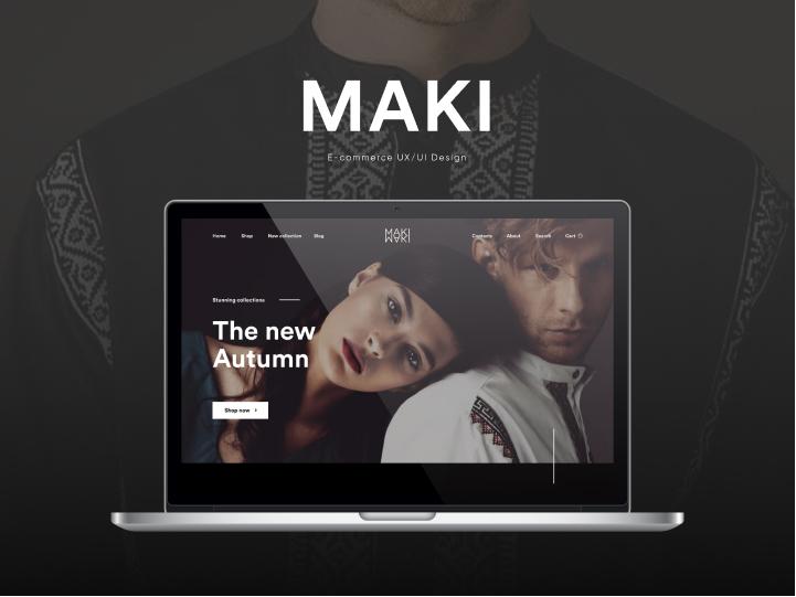 UX/UI Design for MAKI 1