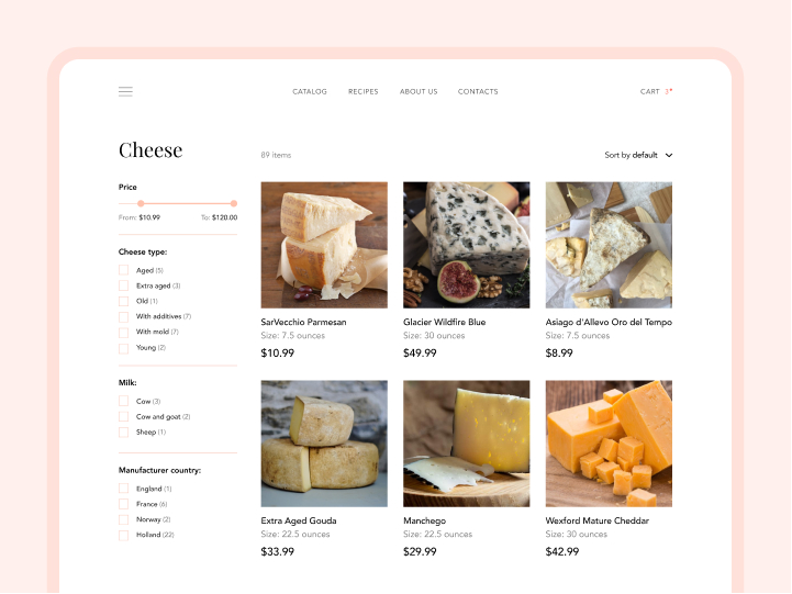 Online Store Design for an Organic Meat Farm 2