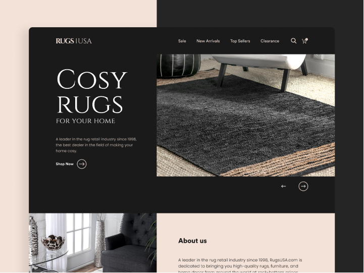 Landing Page Redesign for Rugs USA 1
