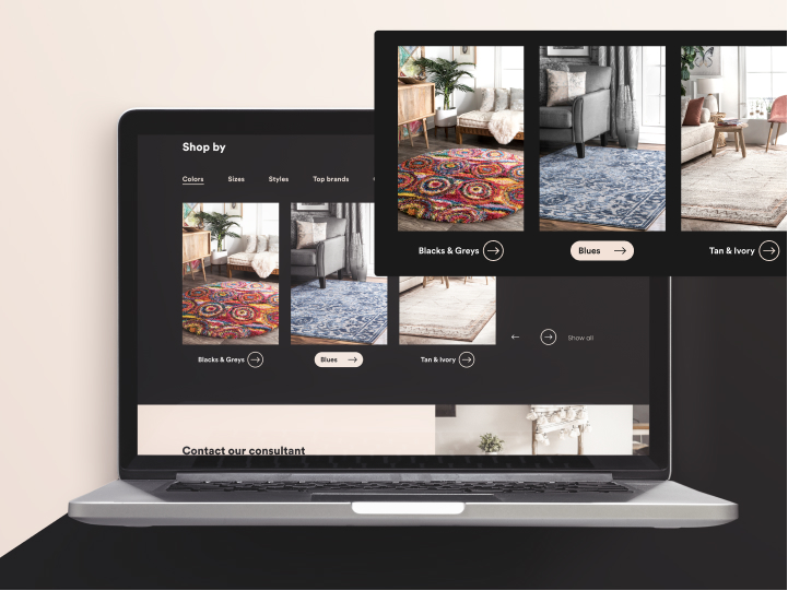 Landing Page Redesign for Rugs USA 2