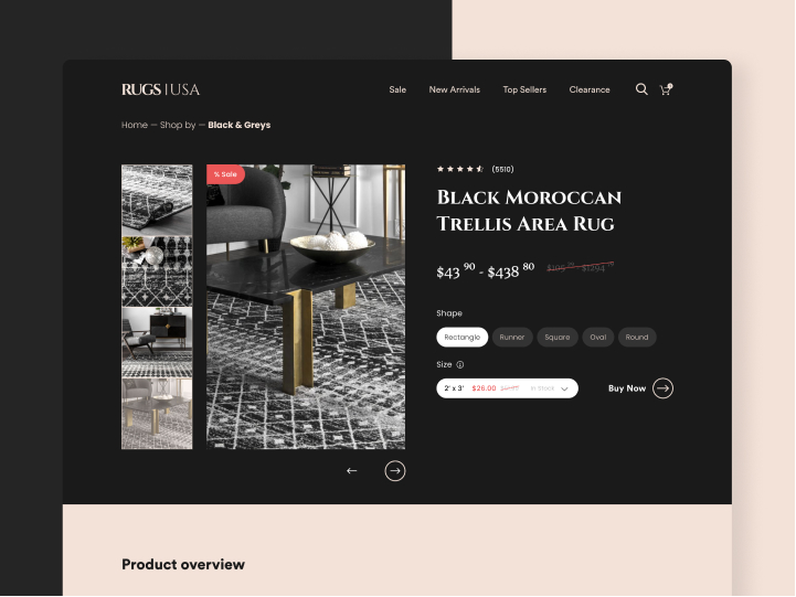 Landing Page Redesign for Rugs USA 3