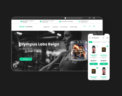 Mobile-friendly design for online store