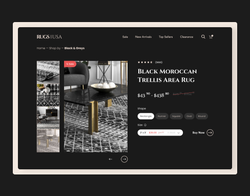 Landing Page Redesign for Rugs USA