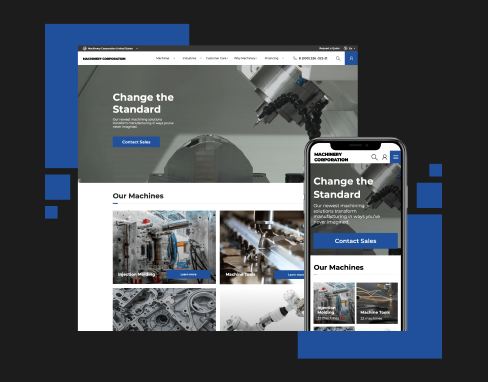 Website for industrial machinery manufacturer