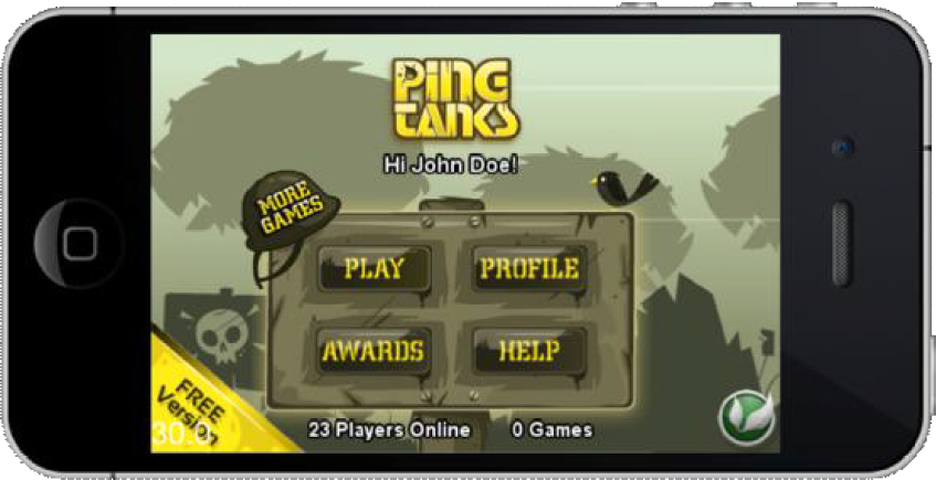 PingTanks game